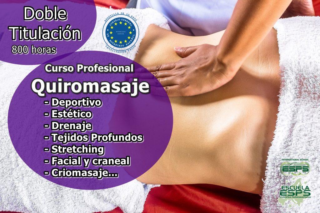 cursos de quiromasaje profesional, cursos de masaje